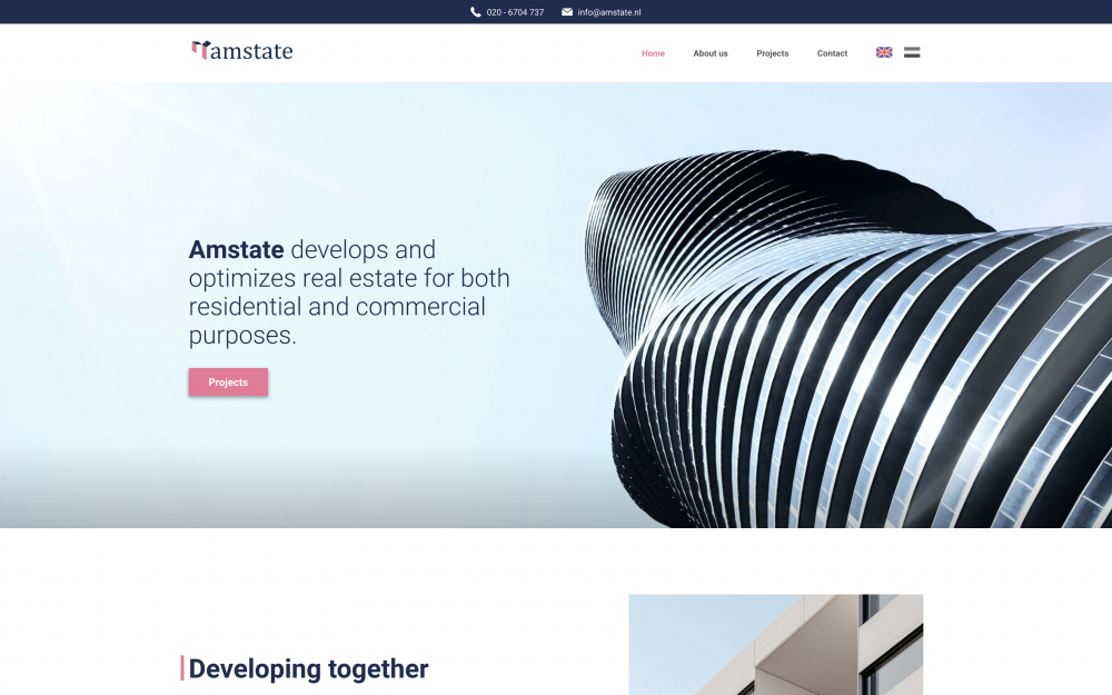 Amstate.nl - Homepage