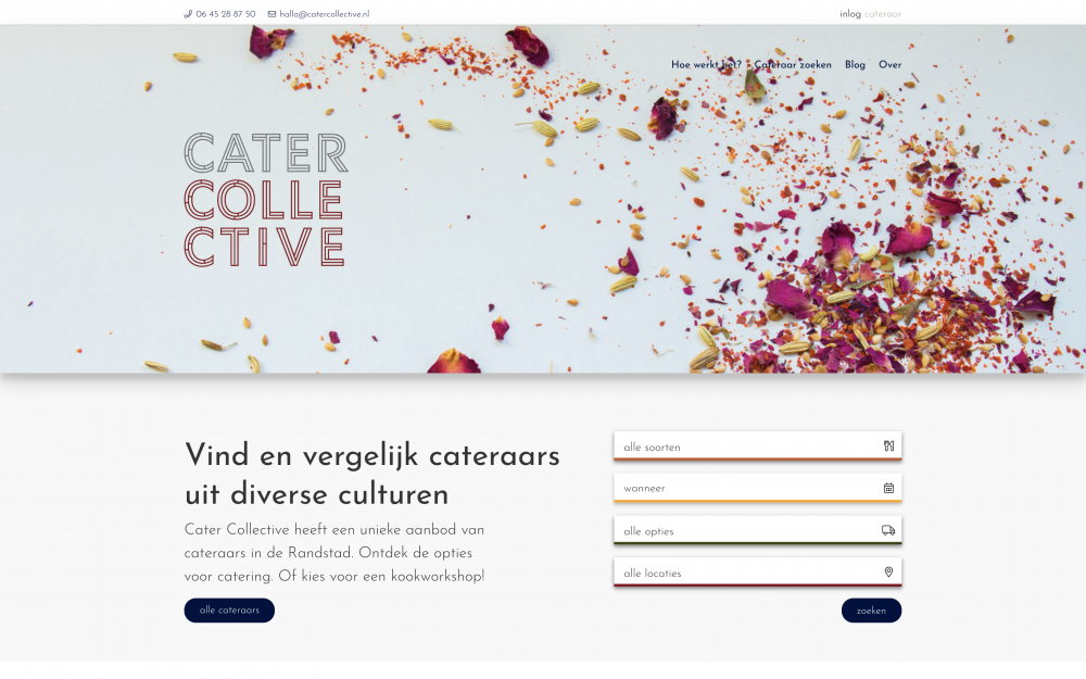Cater Collective - Homepage