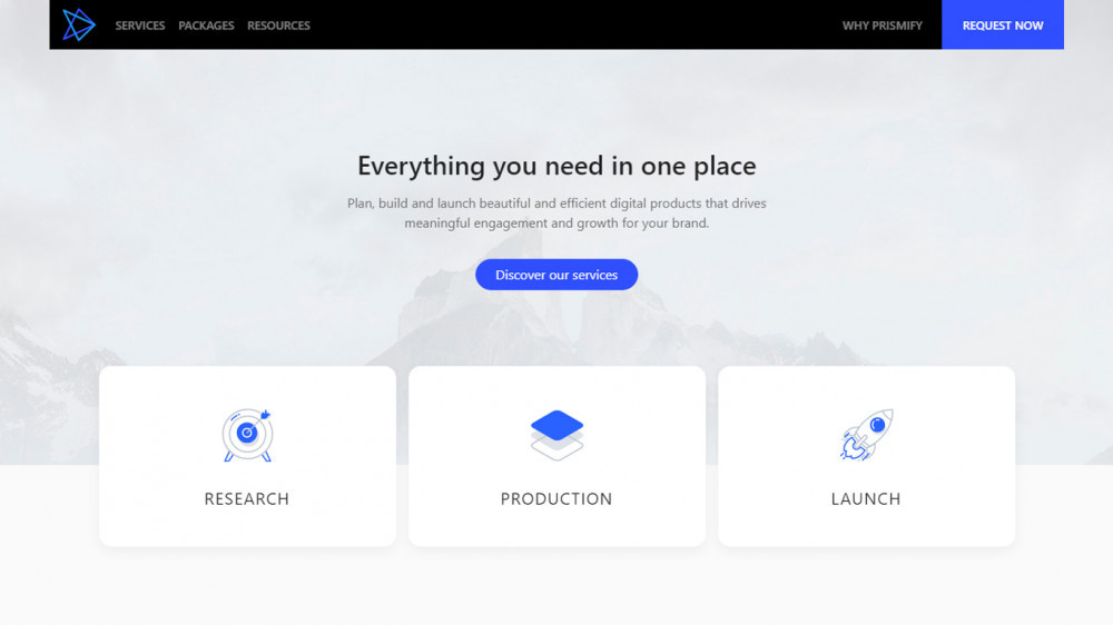 Prismify Labs - official webapp
